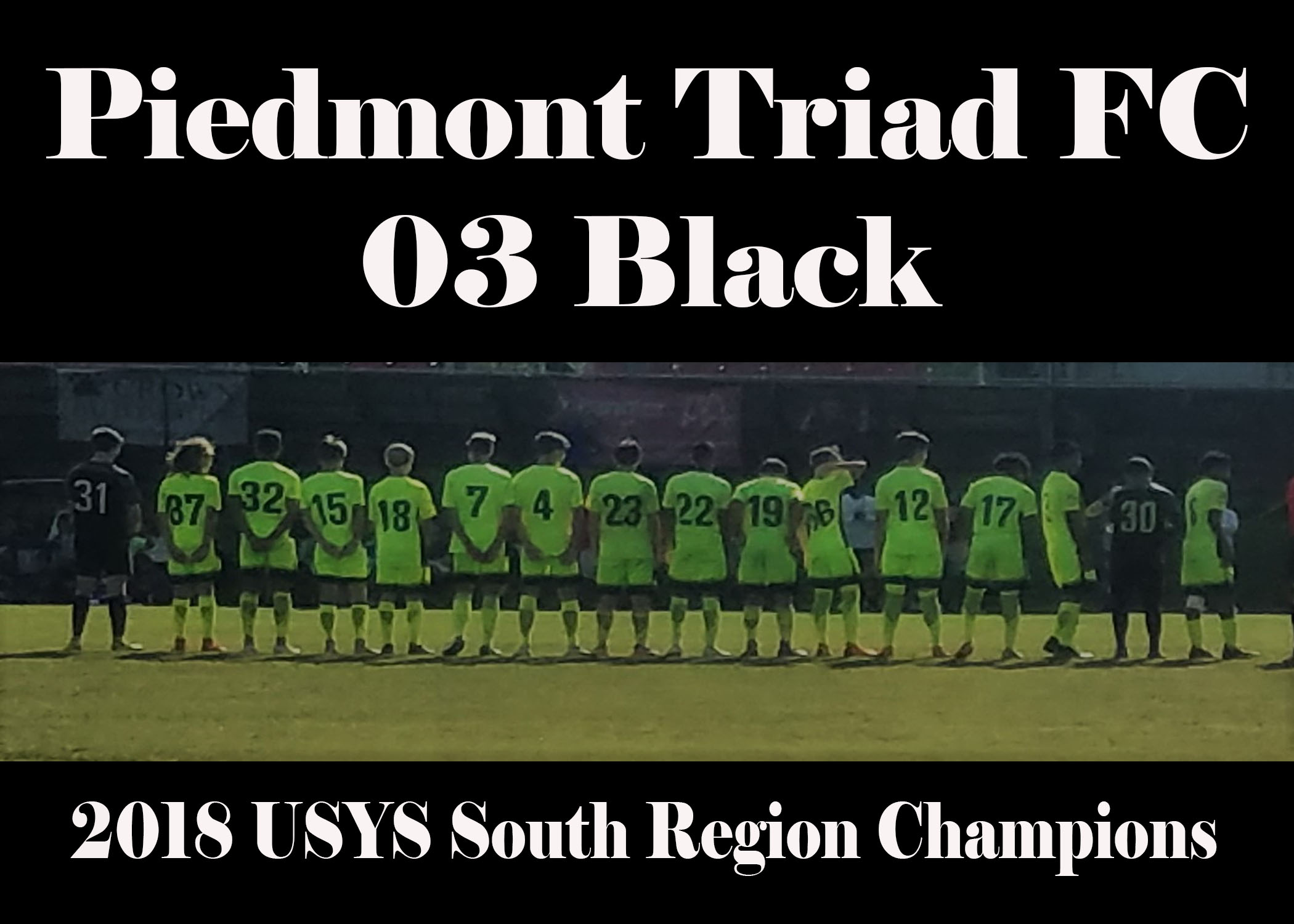 PTFC 03 Black Headed to USYS National Championship