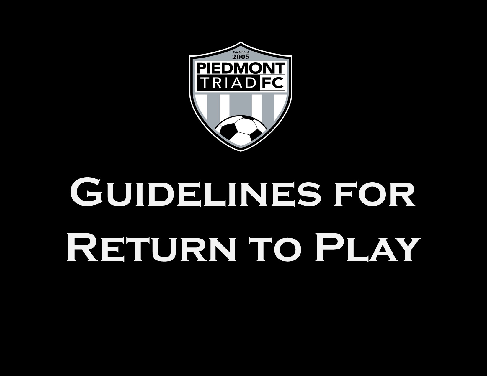 PTFC Return to Play Guidelines