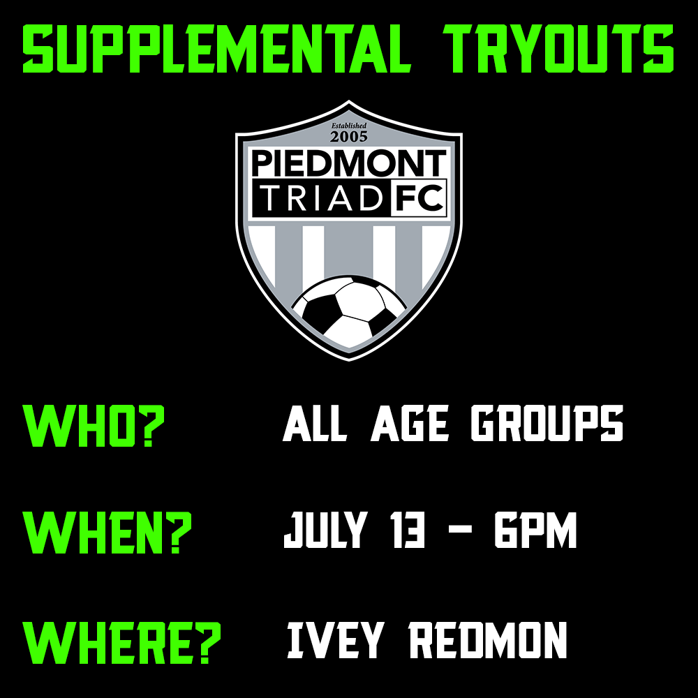 Supplemental Tryouts - ALL AGE GROUPS